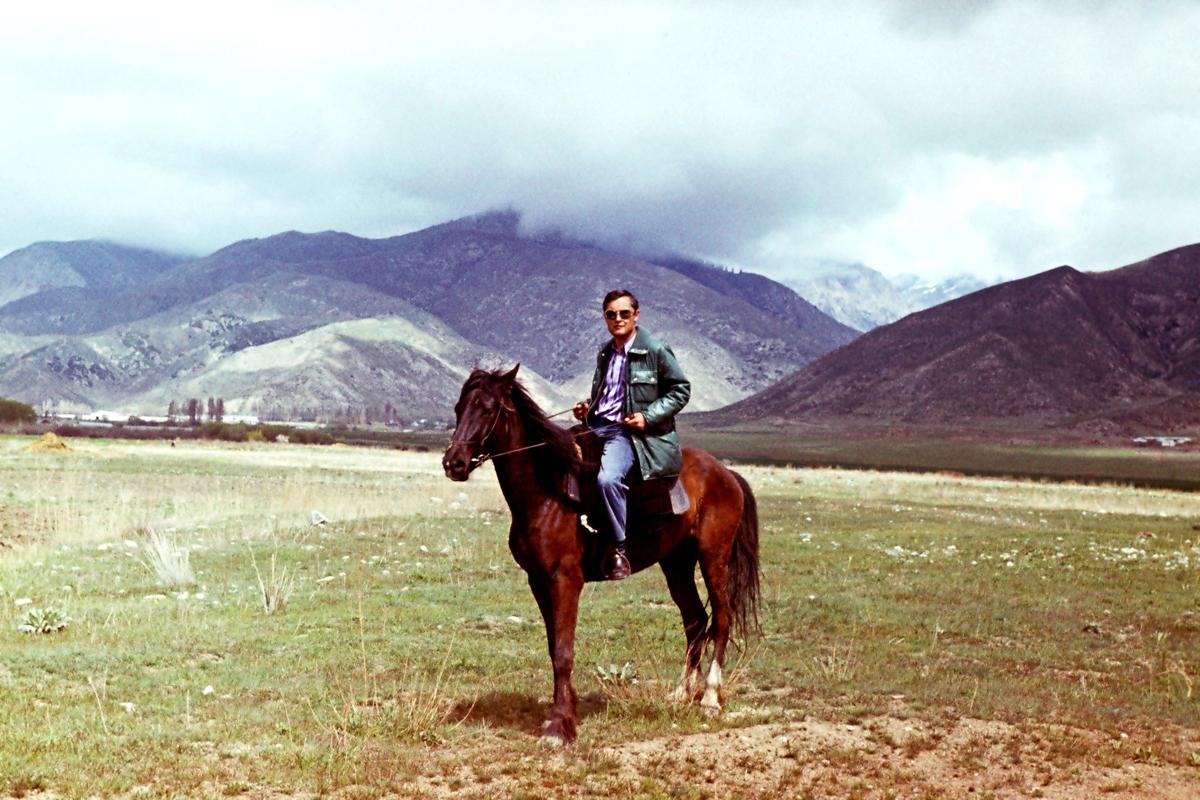 фото 25 - Рашид Чикаев, Иссык-Куль, в предгорьях у ущелья Кырчин, 1981 г.